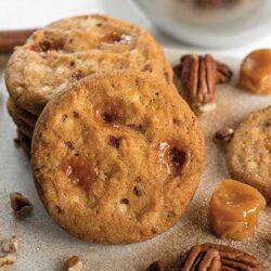 Caramel Pecan Cinnabon Cookie